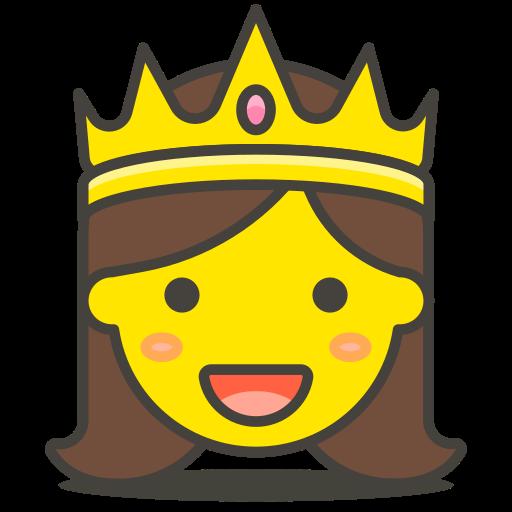 image transparent Vector emojis princess. Icon free of emoji