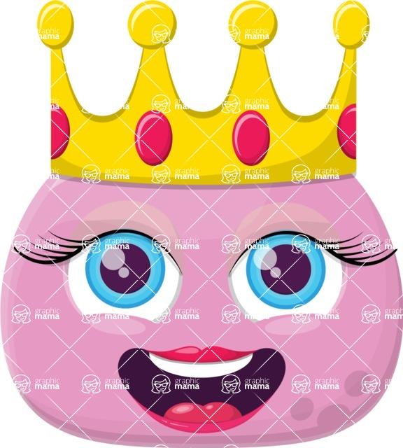 banner transparent Vector emojis princess. Emoji creator design bundle
