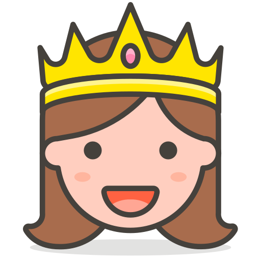 clipart black and white library Princess Icon Free of