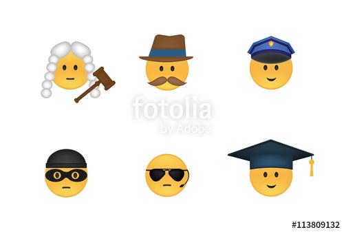 graphic transparent library Set of justice emoticon. Vector emojis punishment