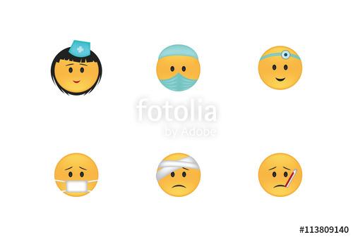 clip art free library Vector emojis punishment. Set of medicine emoticon