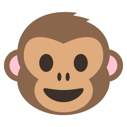 graphic stock Monkey face at getdrawings. Vector emojis silhouette
