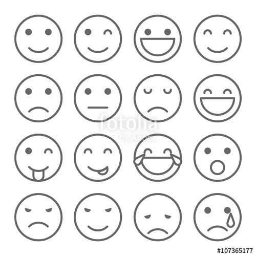 jpg free library Vector emojis simple. Emoji faces icons stock