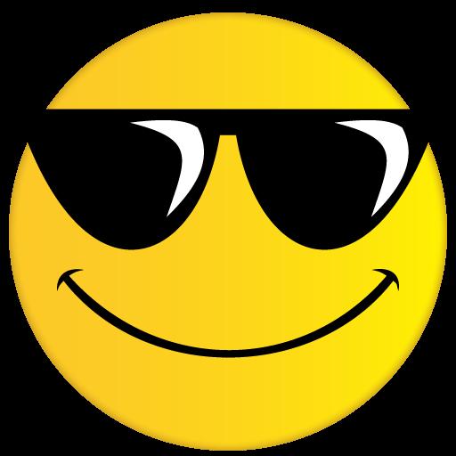 banner transparent library Vector emojis sunglasses.  emoji png for