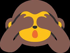 svg transparent download Vector emojis symbol. Monkey emoji logo svg