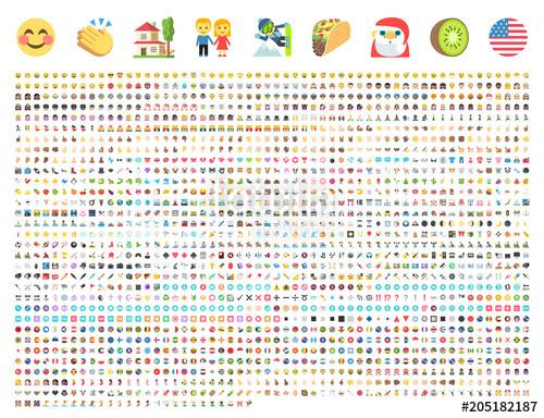 jpg transparent All type of emoticons. Vector emojis symbol