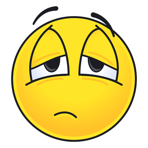 clip freeuse library Vector emojis tired. Cute emoticon transparent png