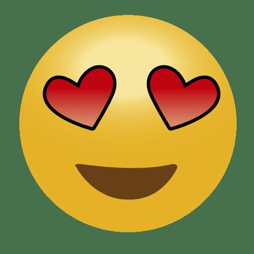 black and white In love emoji emoticon