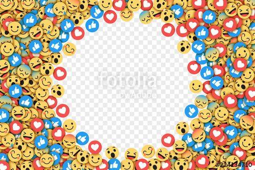 vector transparent library Facebook flat design modern. Vector emojis transparent background