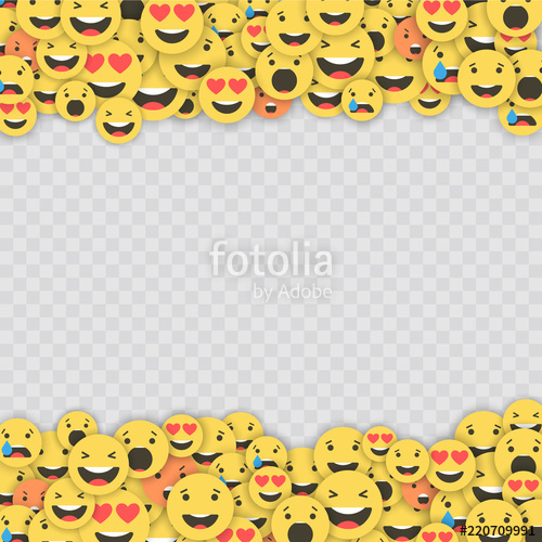 black and white library Vector emojis transparent background. Set of emoji icons