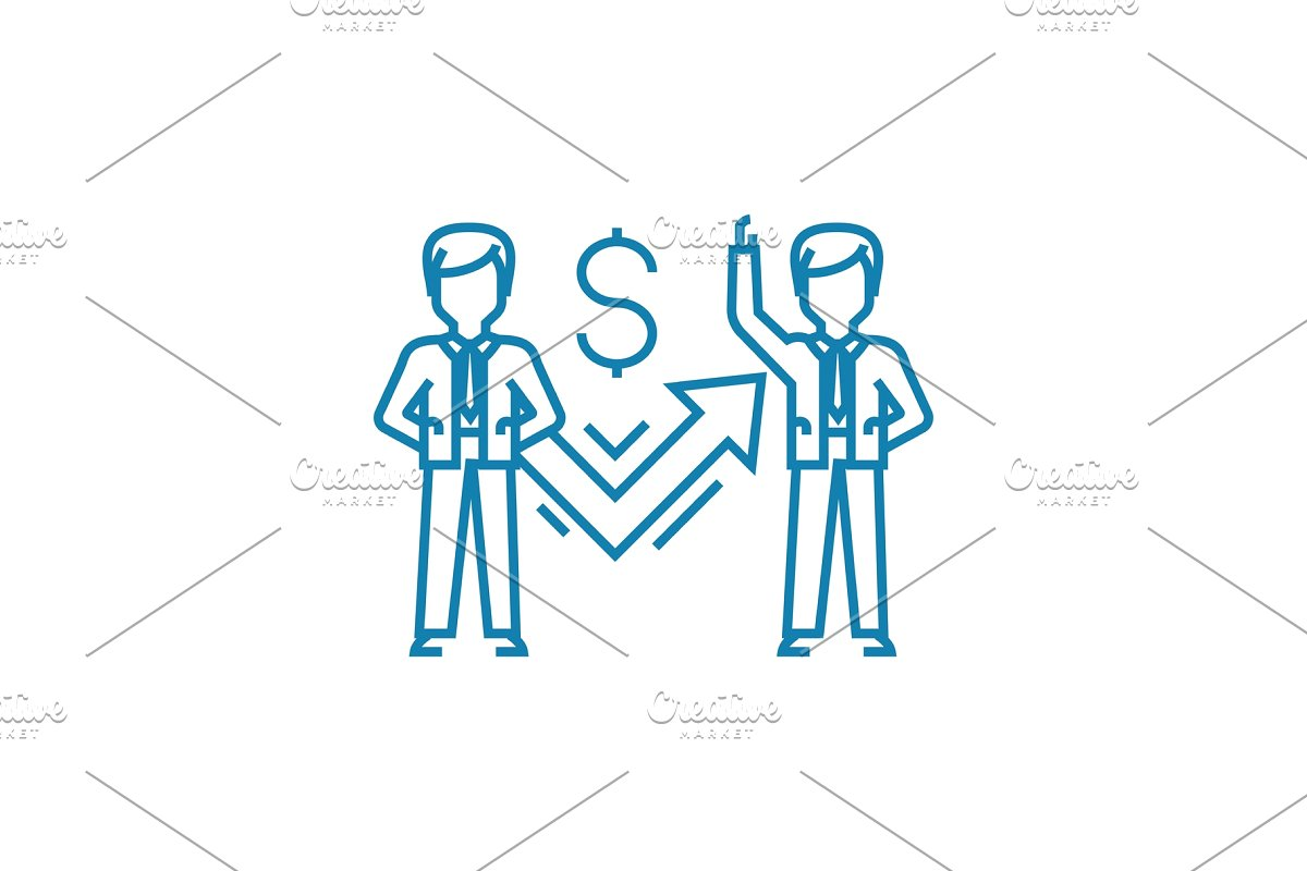 clip freeuse stock Vector employment employee motivation. Motivating employees linear icon