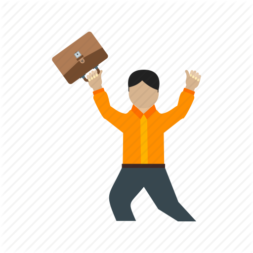 image royalty free library Flat colorful by iconbaandar. Vector employment happy man