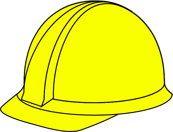 clip freeuse Yellow Hard Hat Clip Art at Clker