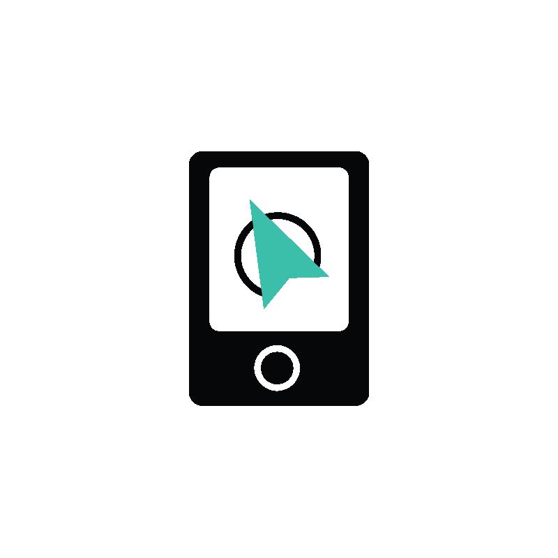 image Vector finder. Location ipad navigator navigation