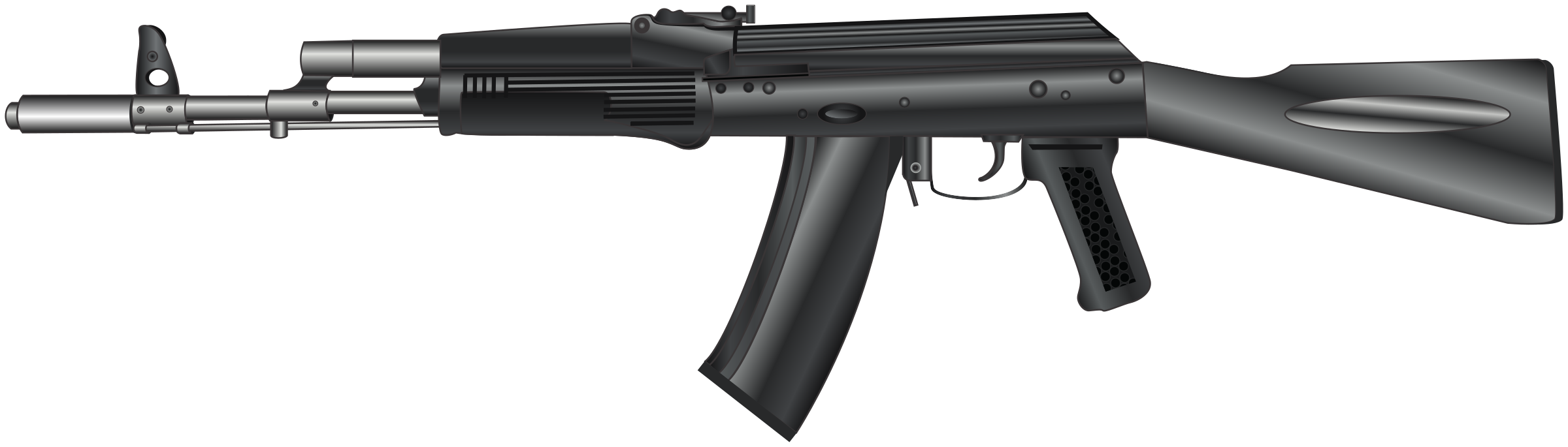 clipart black and white vector firearm 5.56 #107825322