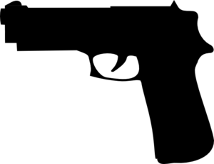 clip transparent download Vector firearm black and white. Gun clip art at