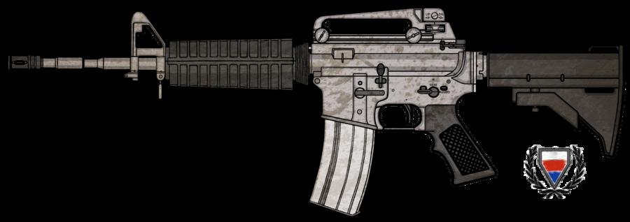 vector royalty free stock vector firearm m4a1 #107822447