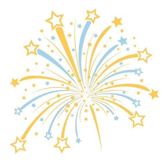 clipart freeuse library Vector firework Graphics Vector firework with yellow and