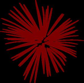graphic transparent library Large Brugundy Fireworks Clip Art at Clker