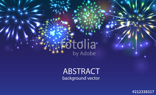 clip royalty free download Fireworks on twilight background vector