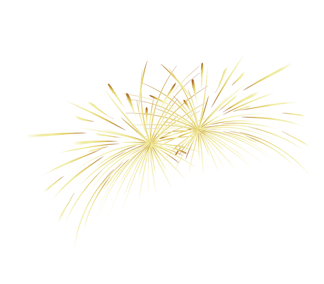 clip free stock Yellow Gold Fireworks