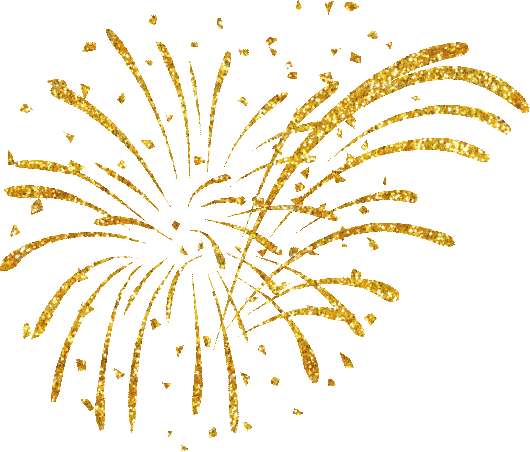picture library vector firework golden #107828197