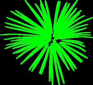 vector free Green Fireworks Clip Art at Clker