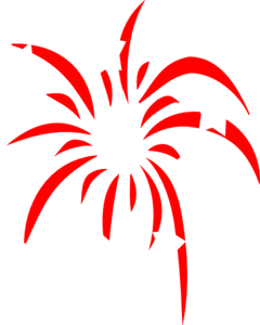 clipart freeuse stock Red Fireworks With White Stars Clip Art at Clker