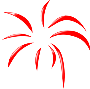 free download Red Simple Firework Clip Art at Clker