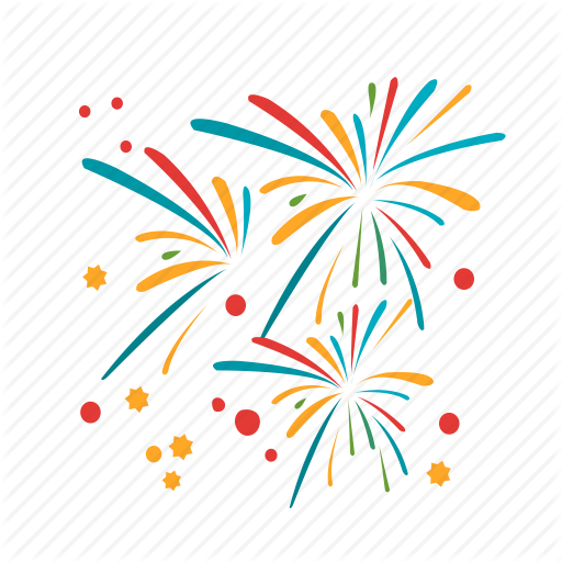 clip Collection of free Fireworks vector gold