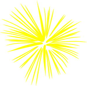 royalty free Yellow clipart firework