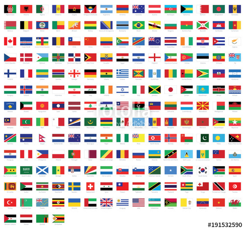 picture transparent download Vector flags. All national of the