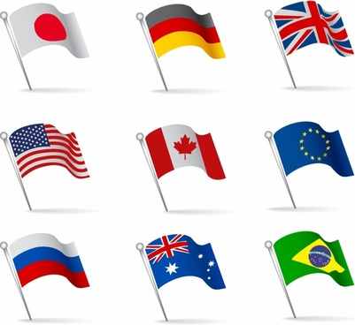 clip royalty free stock Vector flags. Flag free download for