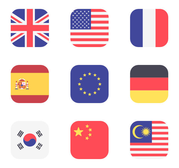 jpg black and white stock Flags Icon Family