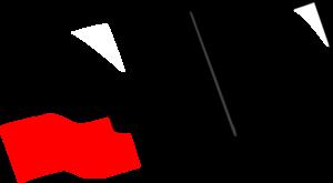 image transparent Flag Outline Clip Art at Clker