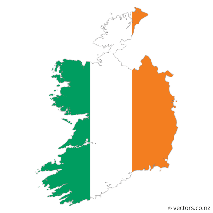 image free download Flag Vector Map of Ireland