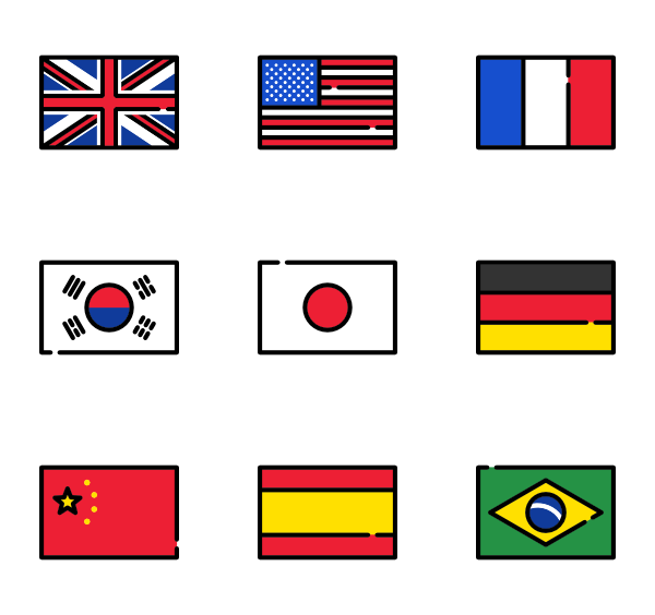 free library Flags Icon Family
