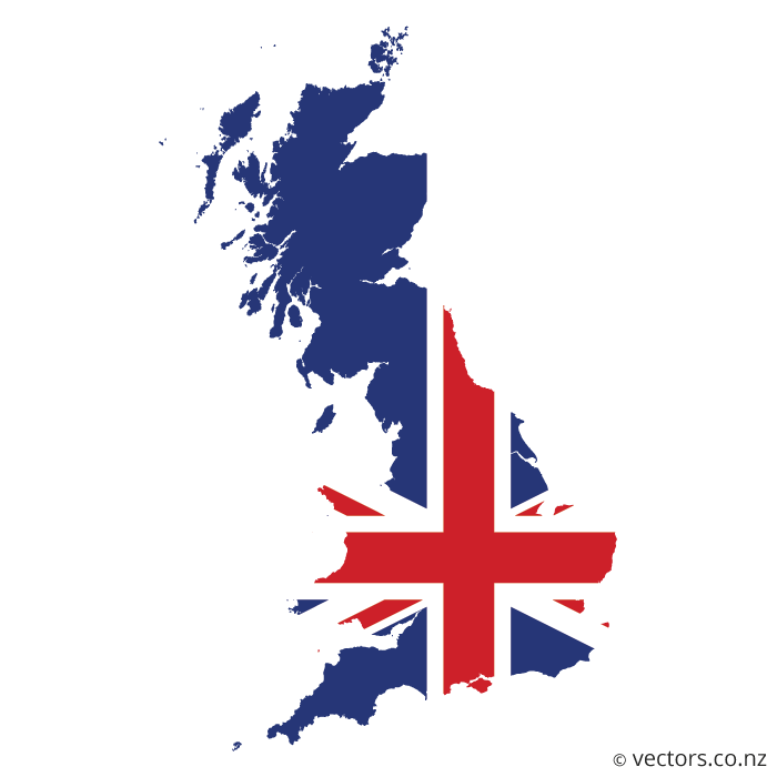 jpg free stock UK Flag Vector Map of Great Britain