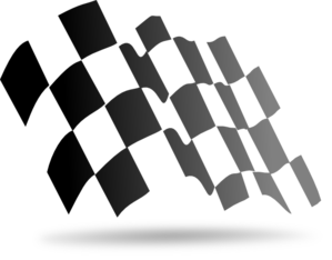 vector royalty free Checkered Flag Clip Art at Clker