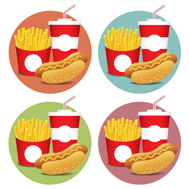 picture library download Fesat food icons set. Vector burger illustrator