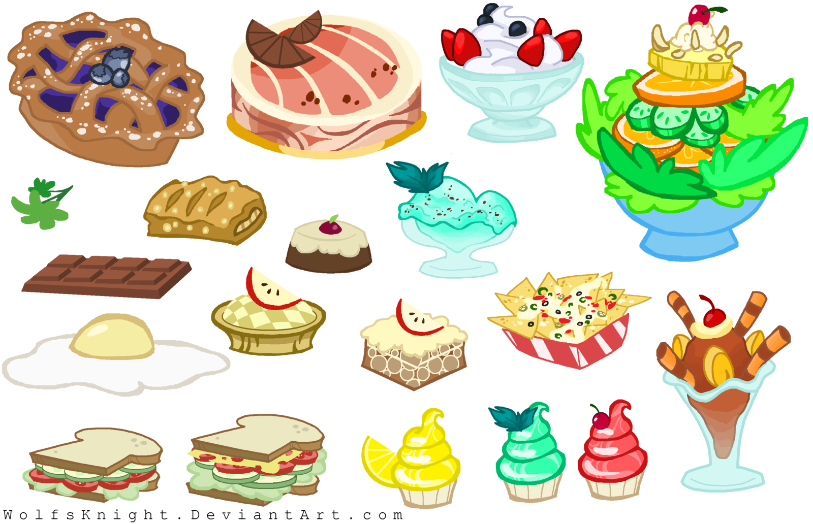 clipart free download Food by WolfsKnight on DeviantArt