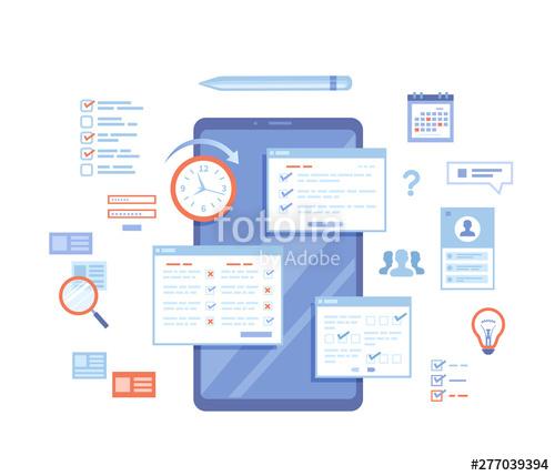 jpg transparent download Online survey testing questionnaire. Vector forms checklist