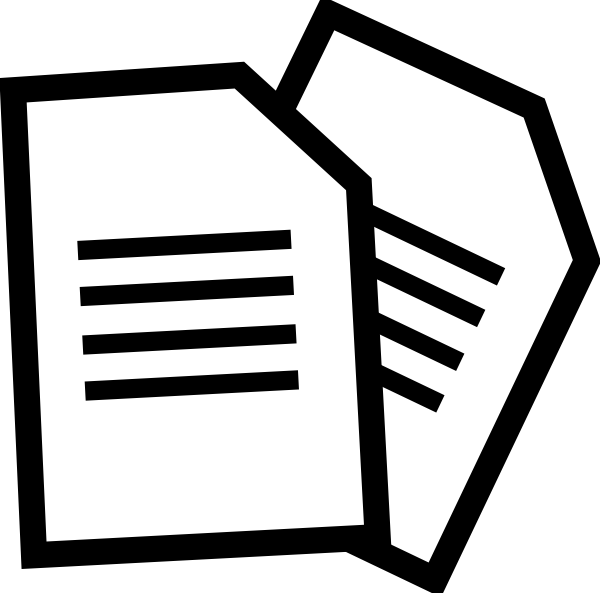 svg black and white library Document clipart form