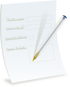 vector library Paper Form With Ballpoint Clip Art at Clker