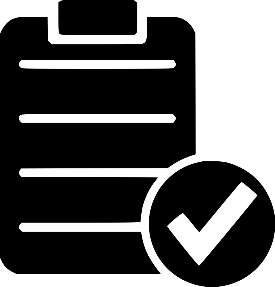 black and white Check List Ok Form Yes Test Right Svg Png Icon Free Download