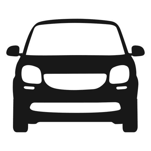clip freeuse library Smart car front view silhouette