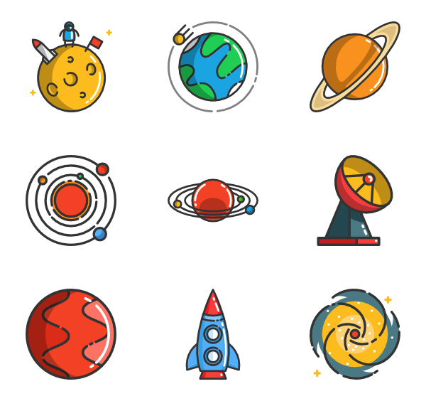 picture royalty free library Galaxy icons free cartooning. Universe vector space