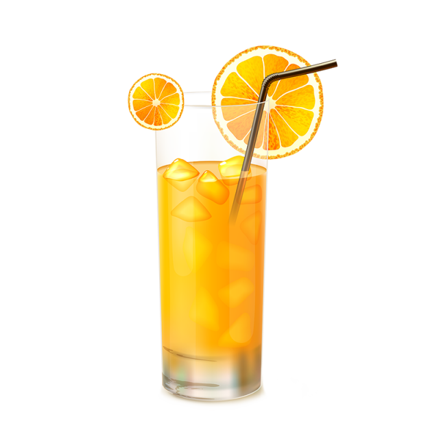 download Orange juice png and. Vector glass
