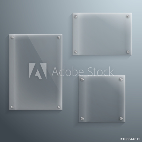 clipart transparent stock Vector glass frame. Set of realistic template
