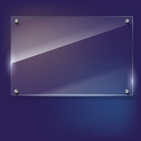 royalty free stock With steel rivets framework. Vector glass frame